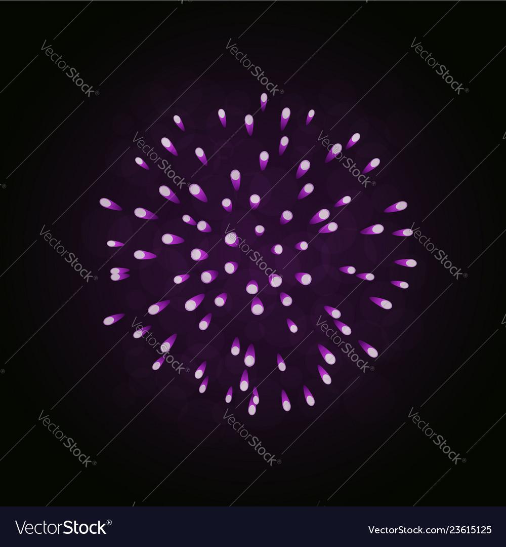 Beautiful bright firework isolated on black
