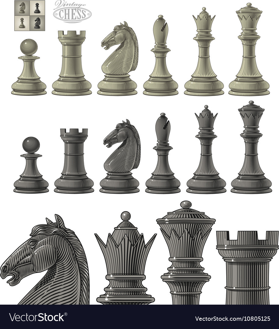 Chess piece set vector image