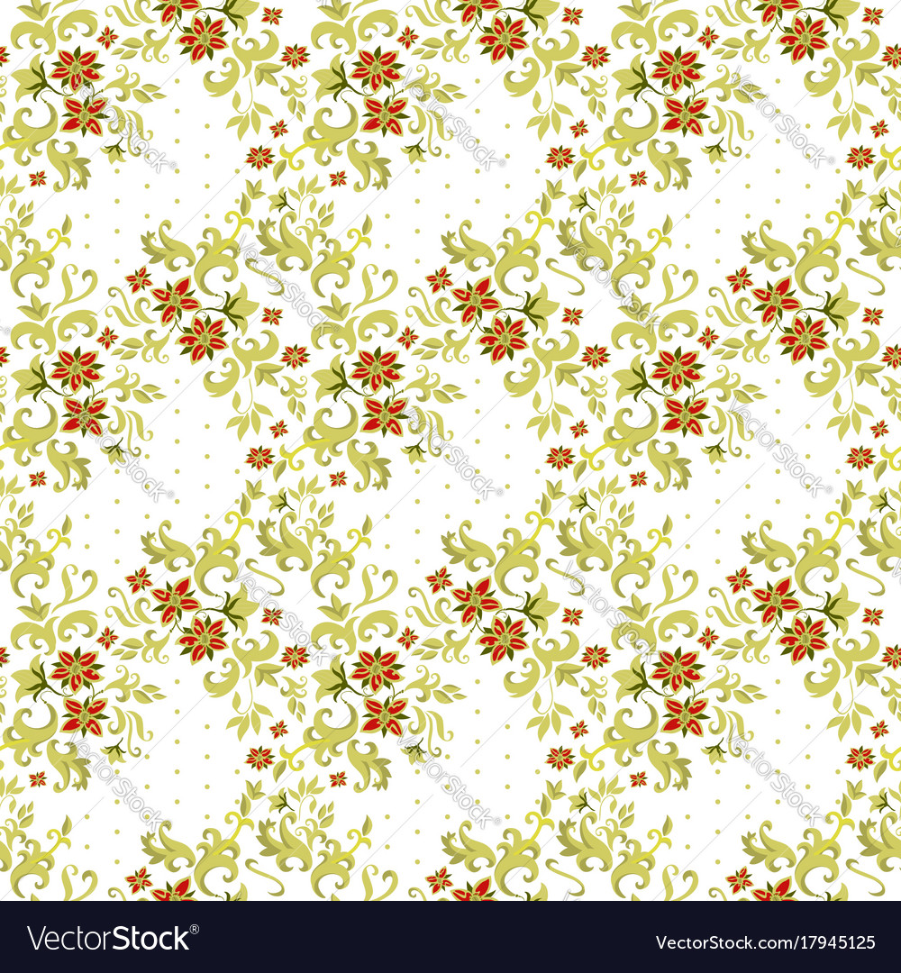 Floral textile seamless pattern