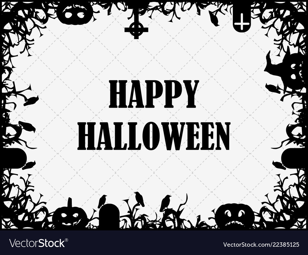 Happy halloween october 31st festive frame with