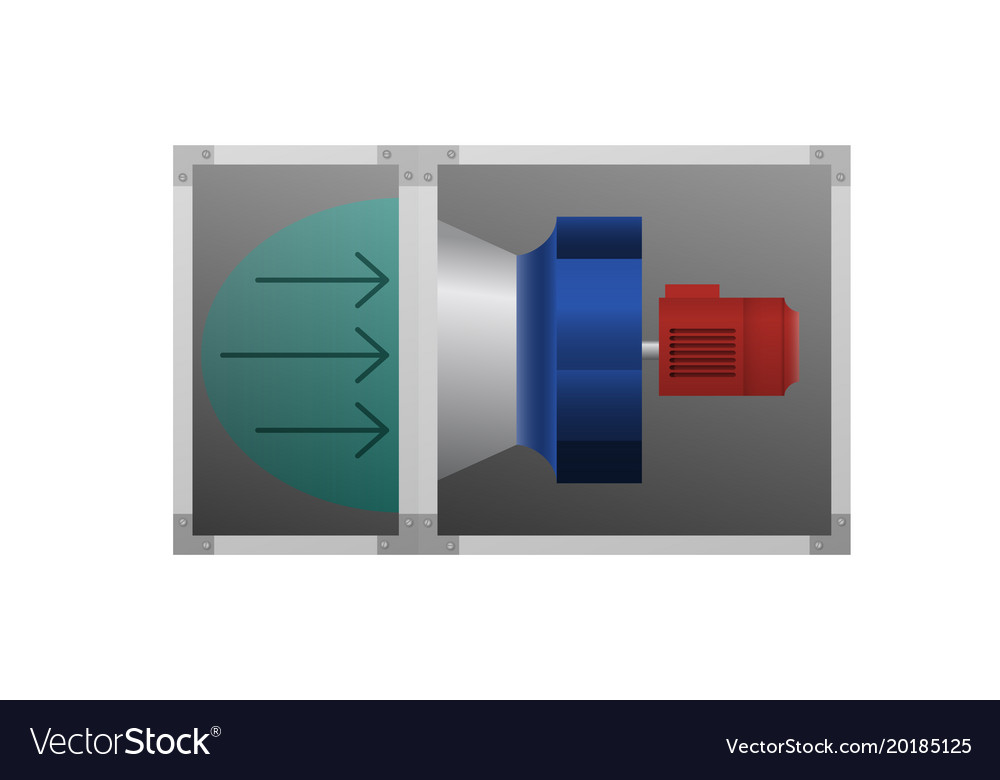 image of air flow at the fan vector image