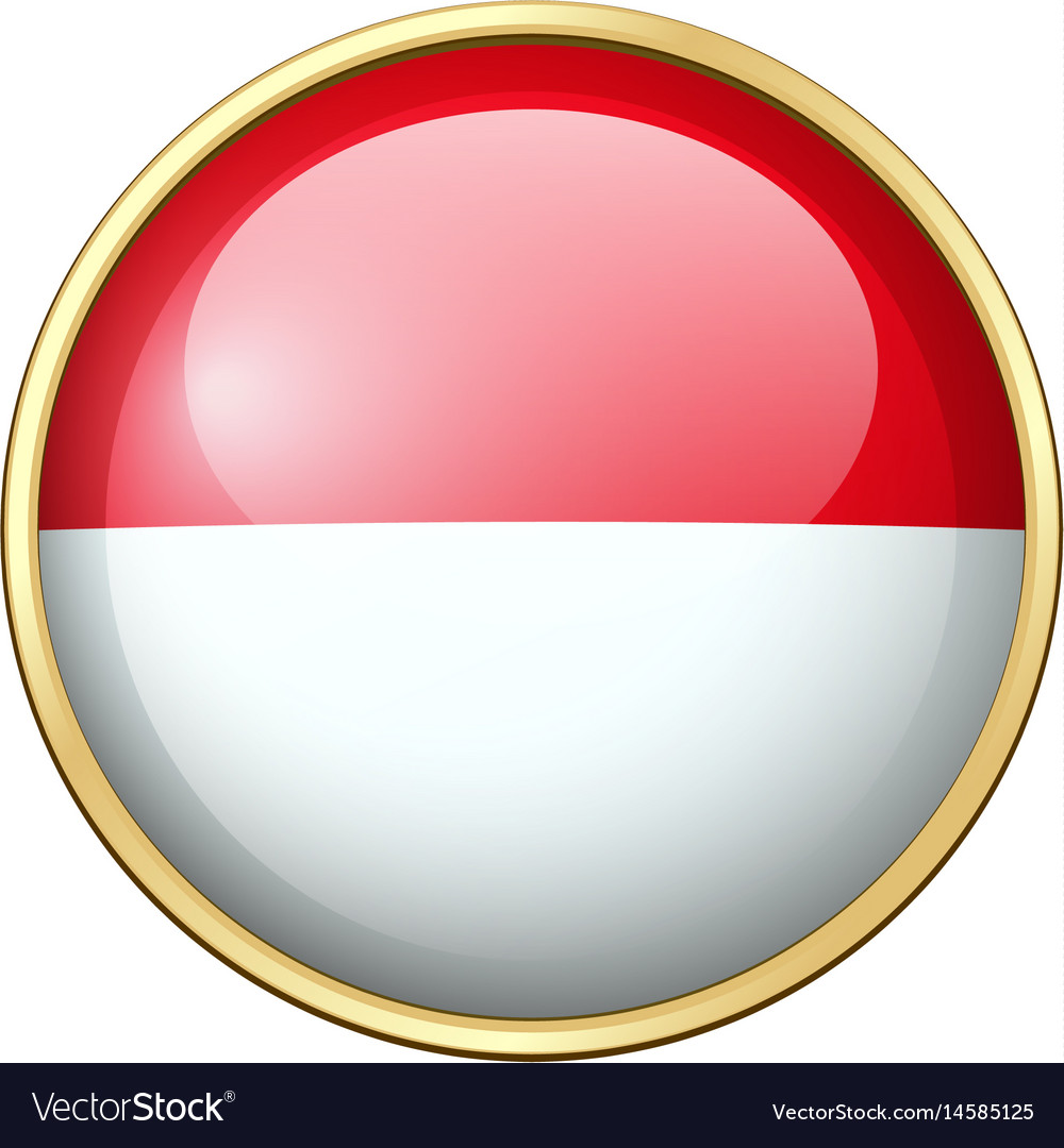 indonesia flag on round badge royalty free vector image