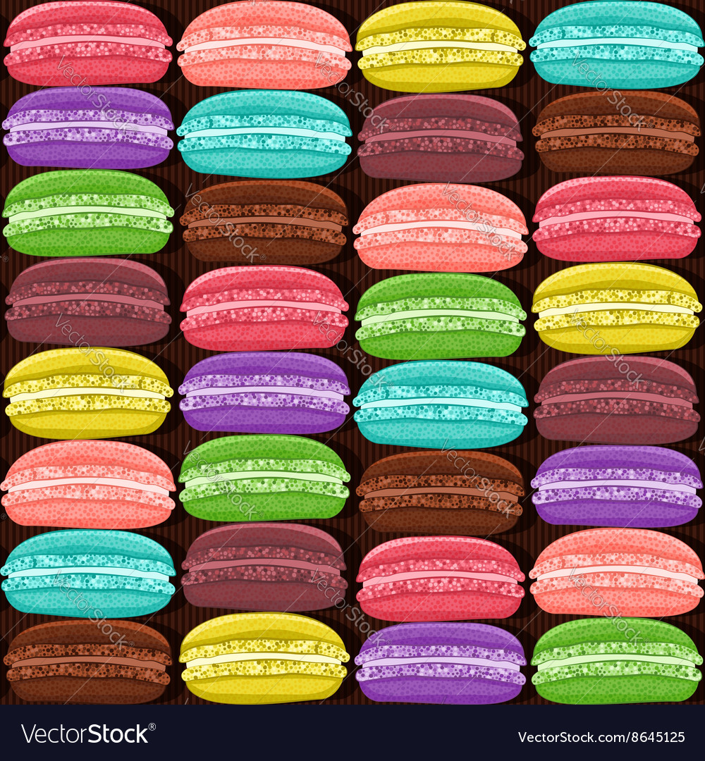 Macaroon colorful seamless pattern