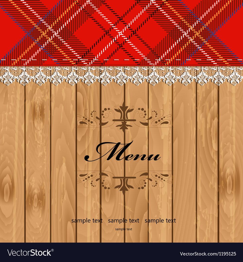 Scottish Tartan Pattern Menu