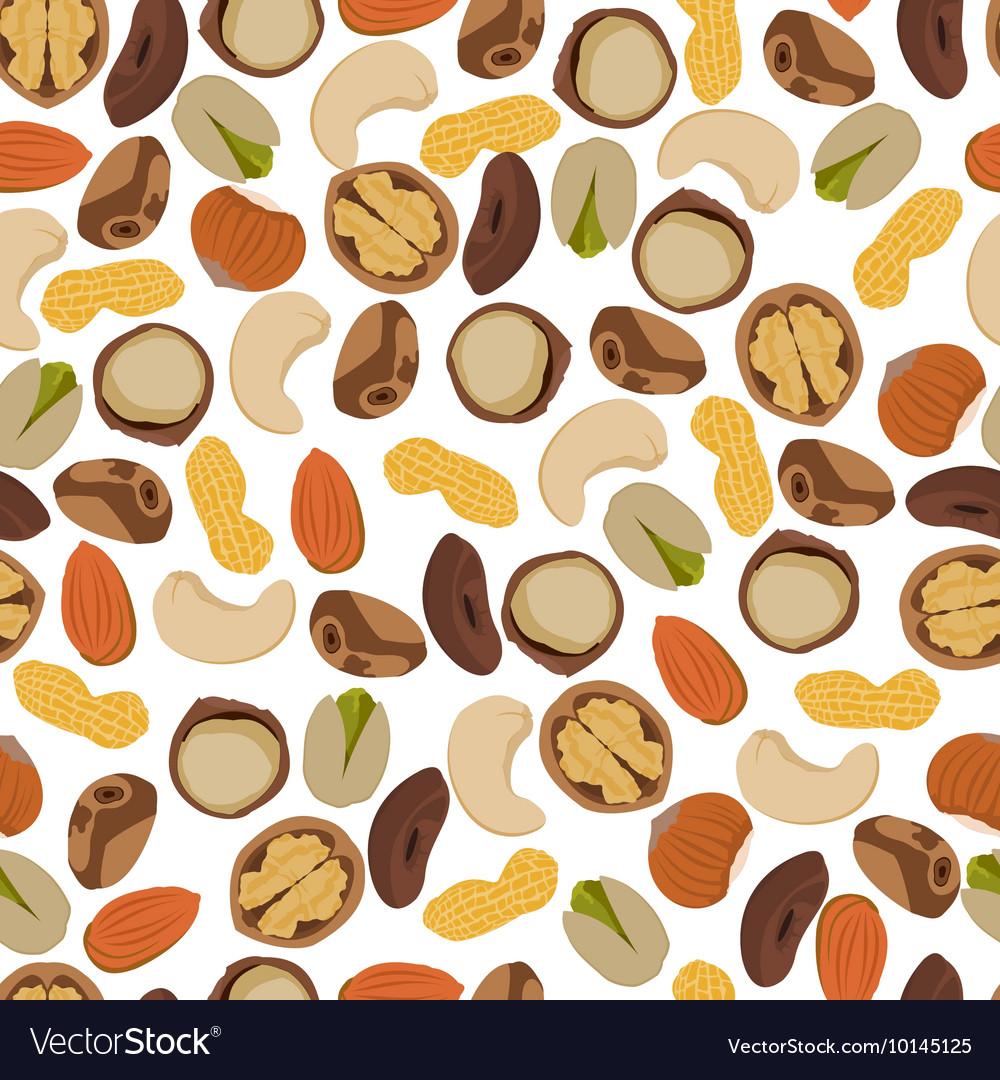 Seamless pattern nuts