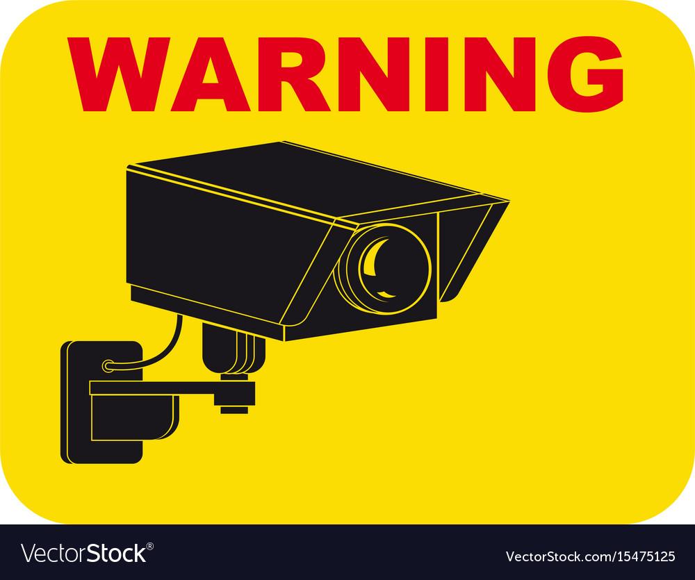 Warning surveillance tv