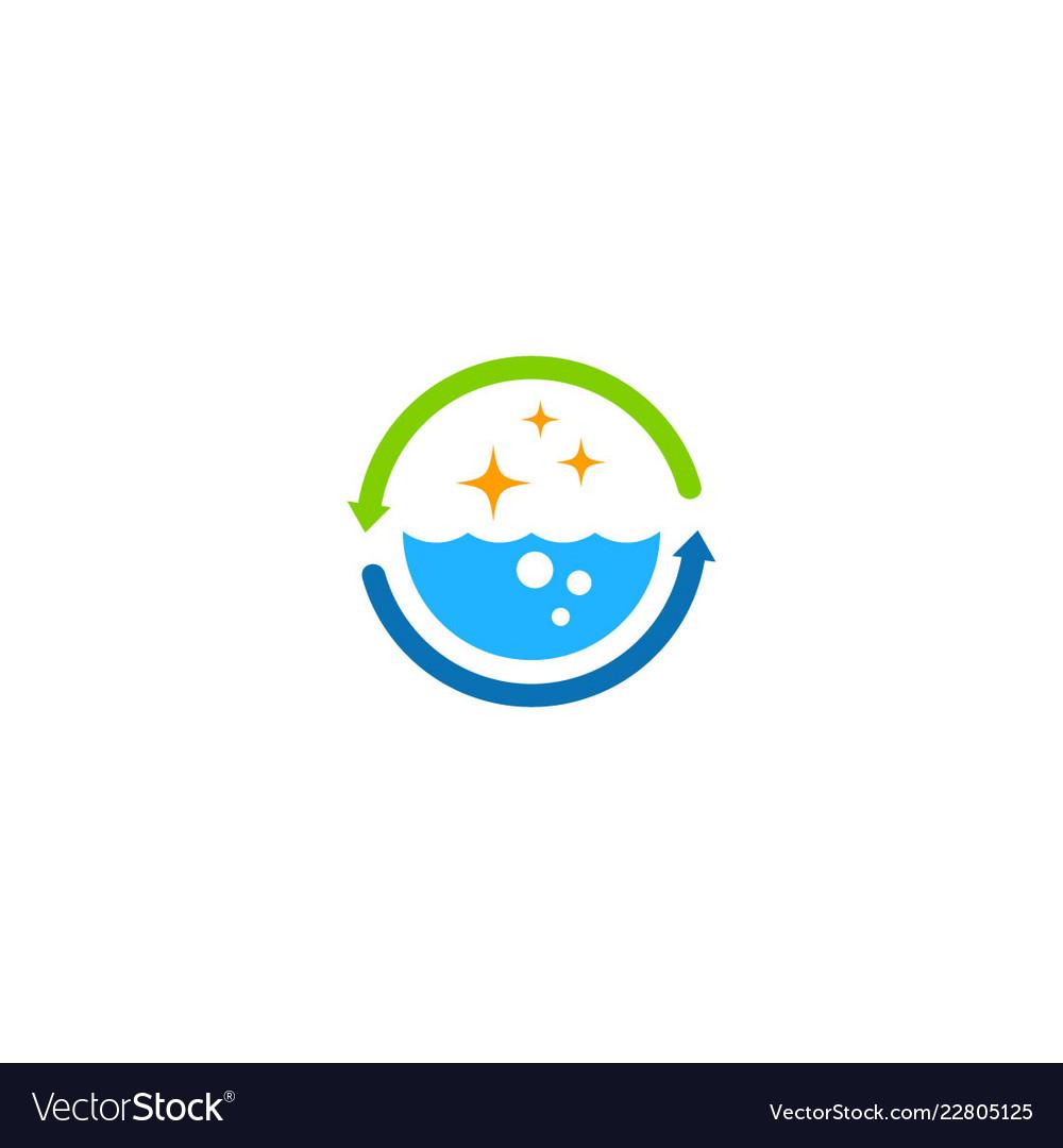 Water bio cleaning process logo