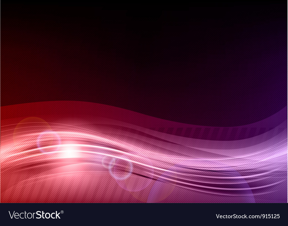 Wave abstract purple vector image