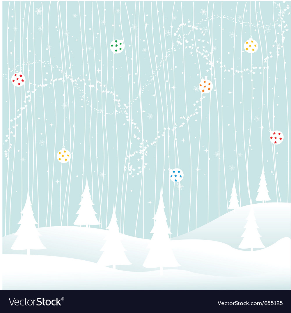 Winter Greeting Card Royalty Free Vector Image