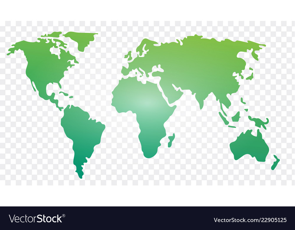 world map template royalty free vector image vectorstock