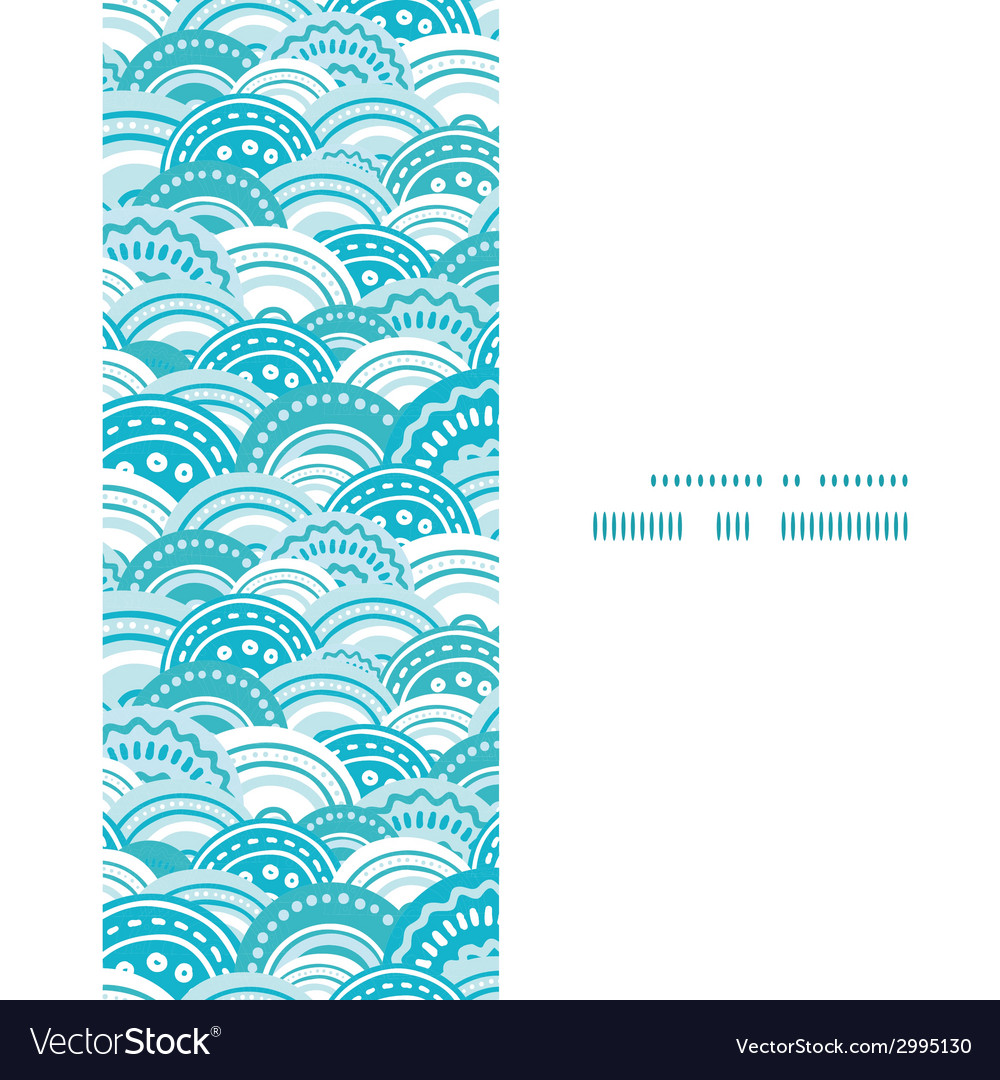 Abstract blue waves vertical frame seamless