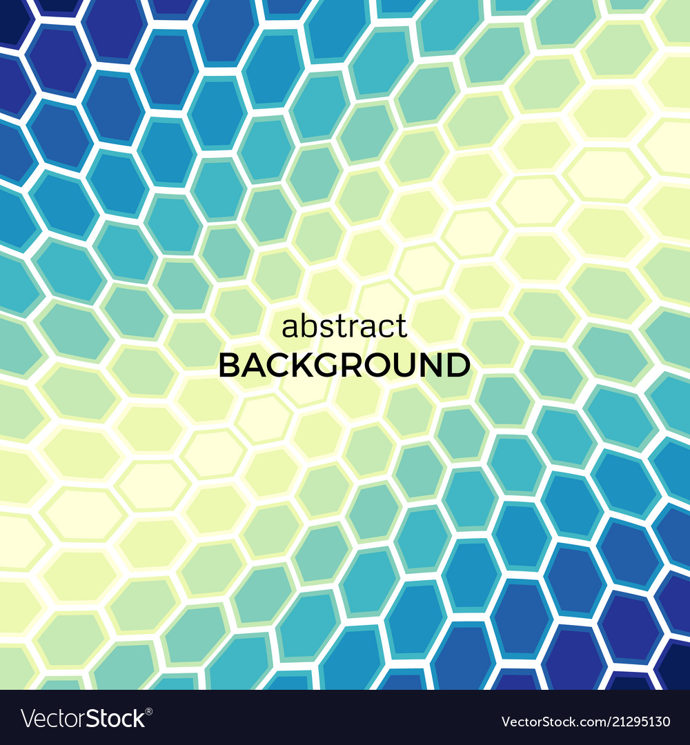 Background with color hexagons elements