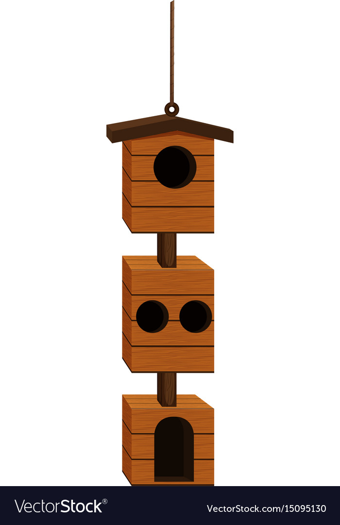 Birdhouse design with wood vector image