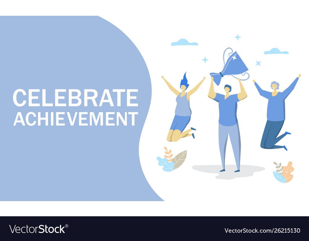 Celebrate achievement concept for web
