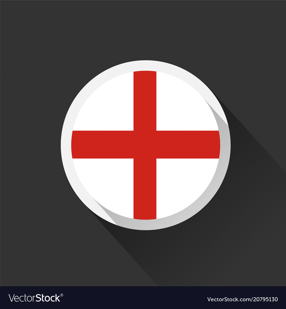 England national flag on dark background