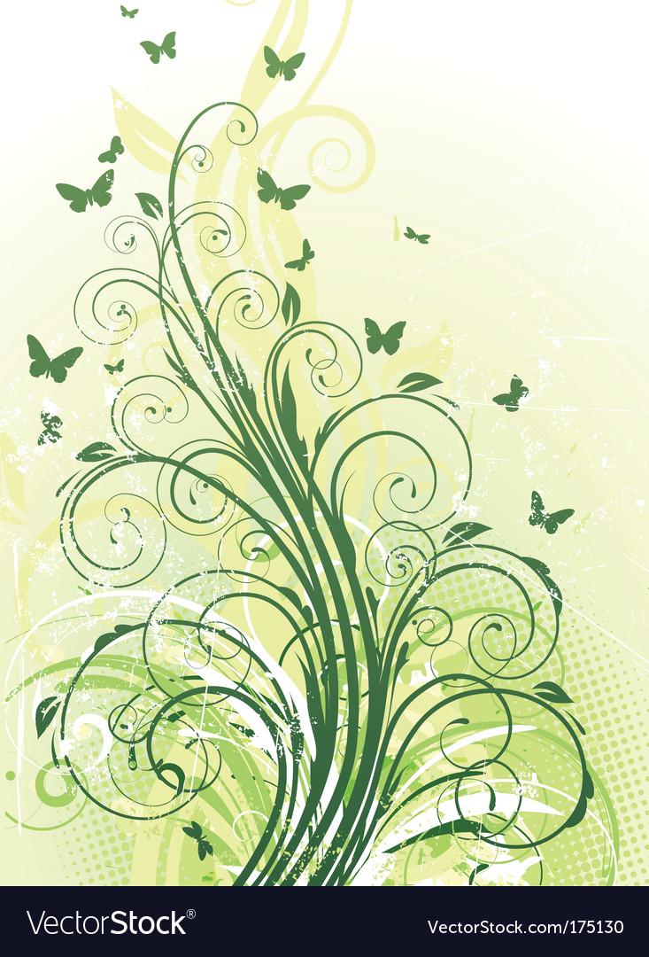 Floral decorative background vector image