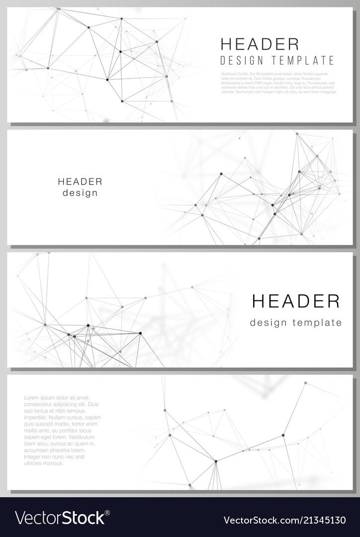 Minimalistic editable layout of headers