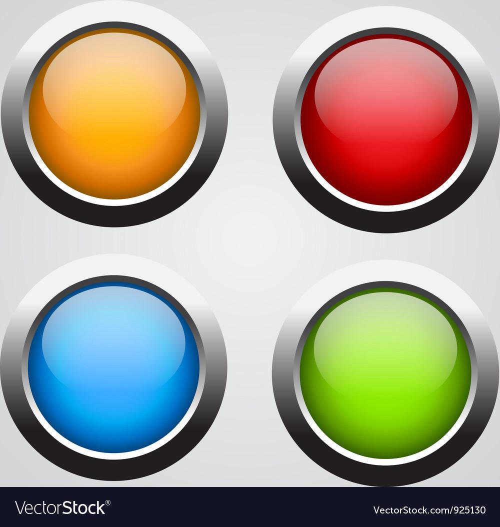 Set 4 glass buttons