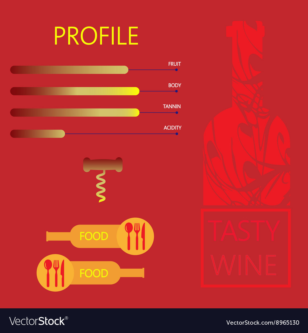 Tasty wine and food restaurant vector image
