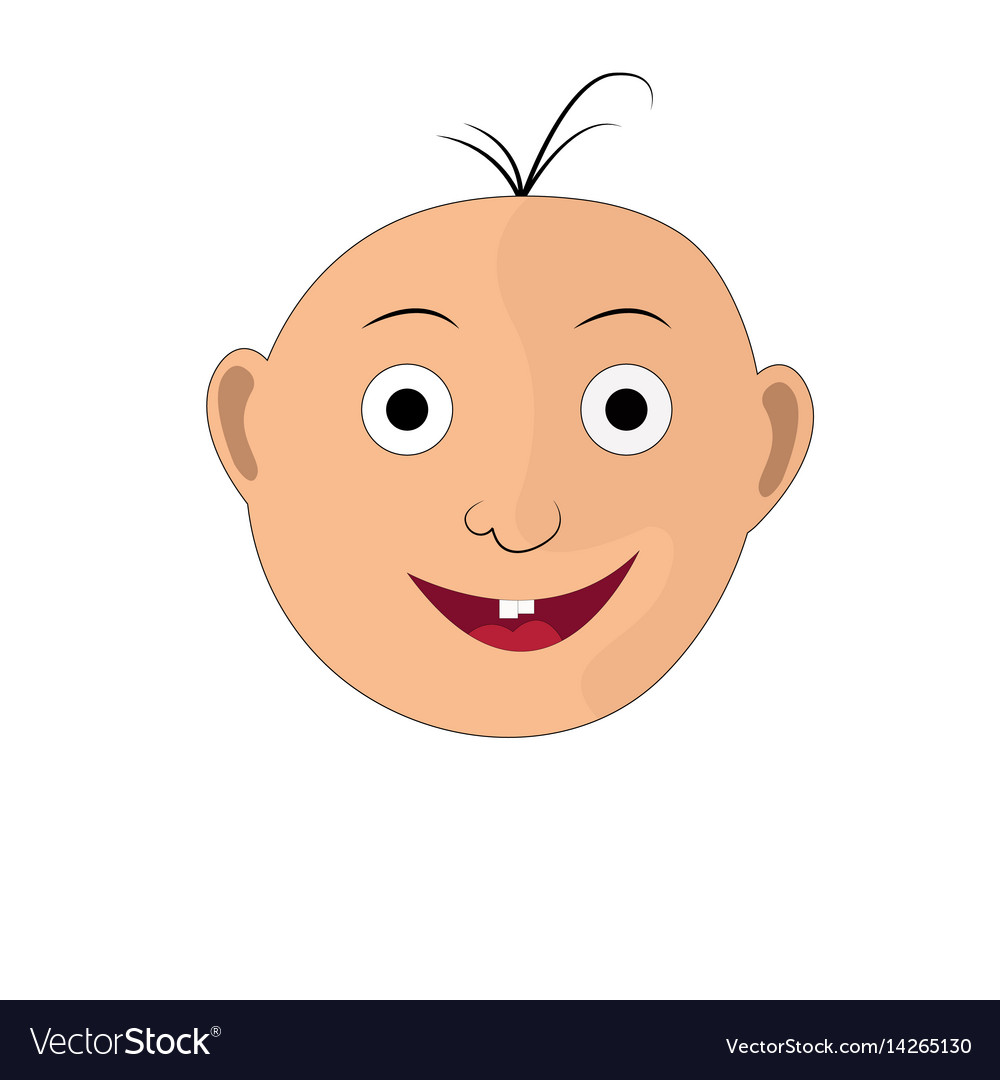 The of a child s face with a smile vector image