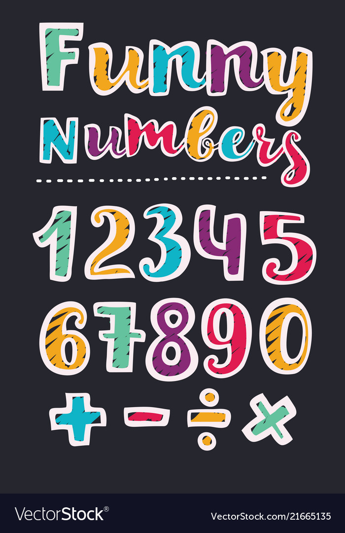 Beautiful print on bold font numbers for kids