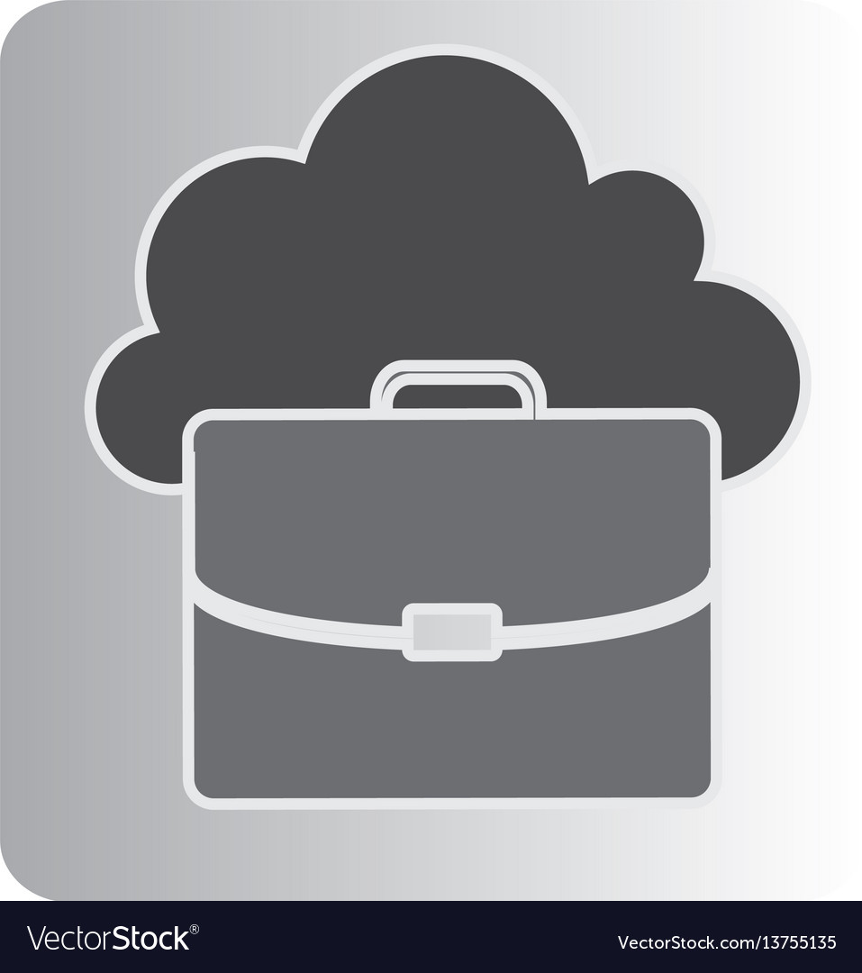 Cloud suitcase network icon vector image