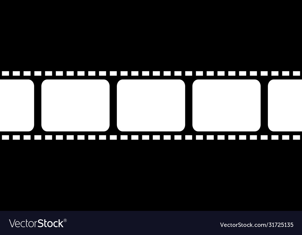 film strip seamless background in flat style vector image vectorstock