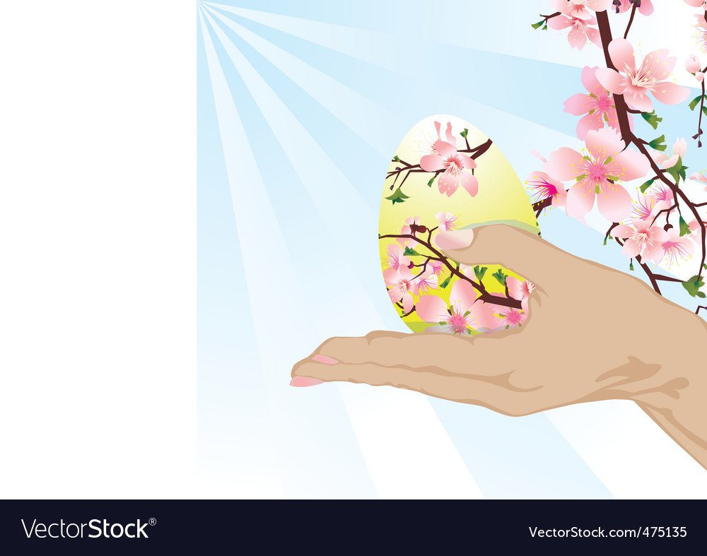 Hand with Easter egg