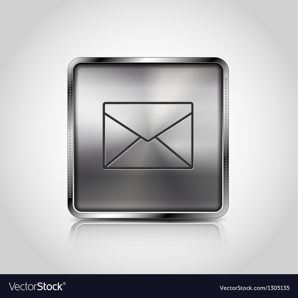 Metallic web icon with reflection and shadows