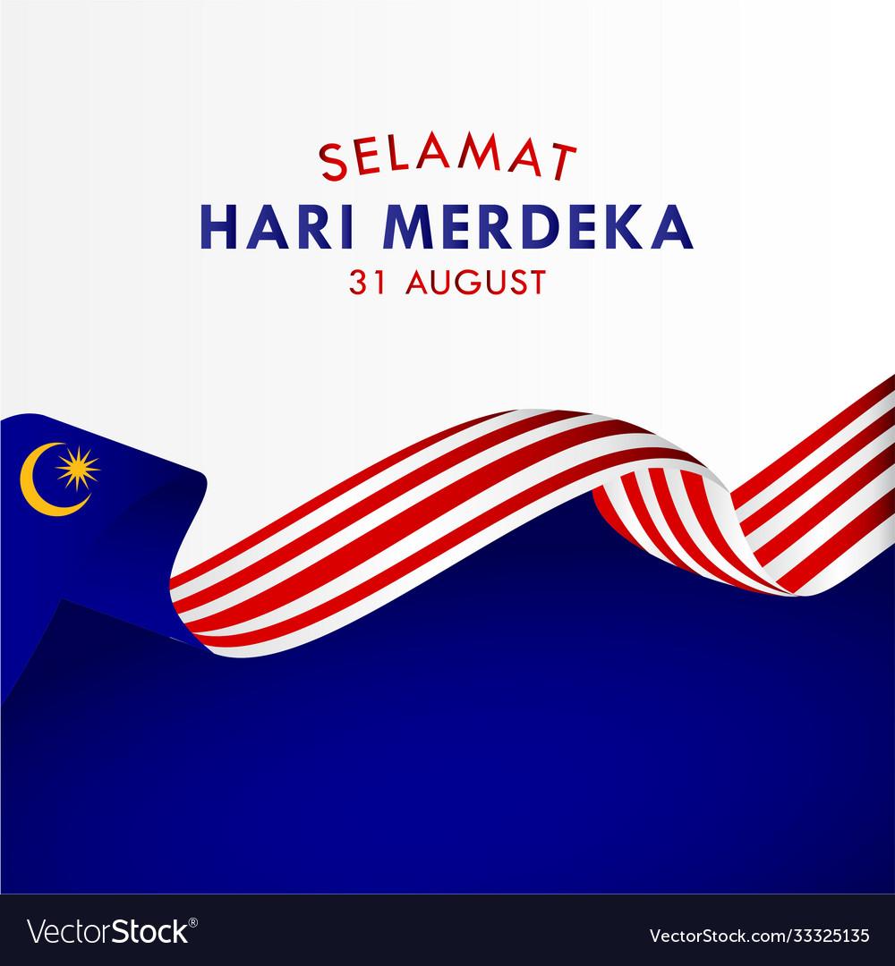 Selamat hari merdeka malaysia design for banner