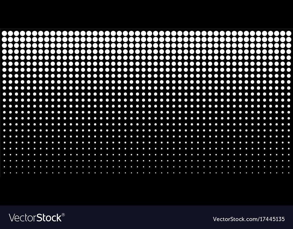 White vertical gradient halftone dots background