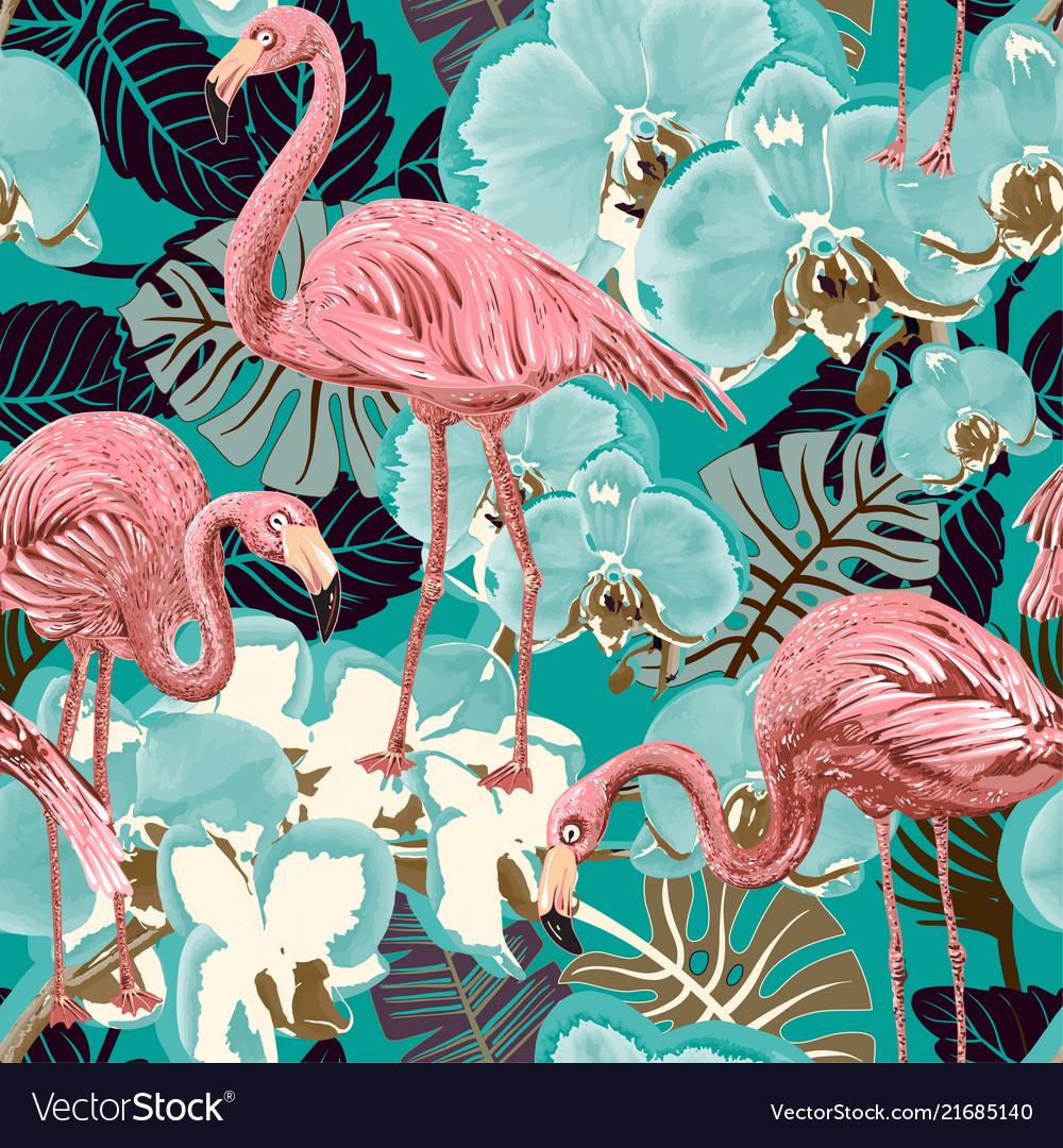 Beautiful seamless floral summer pattern