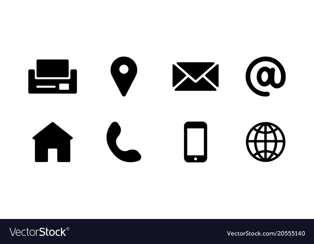 Business Card Icons Royalty Free Vector Image Vectorstock