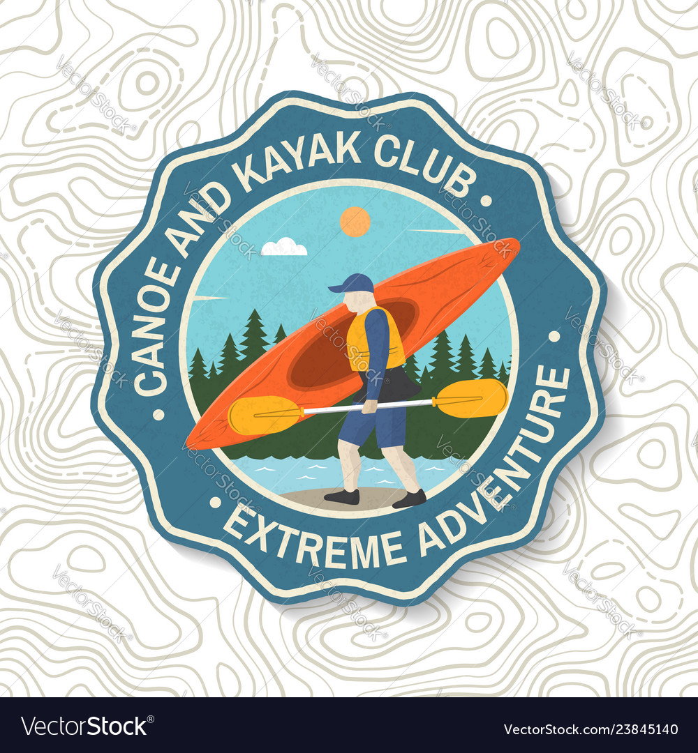 Canoe and kayak club badge concept for