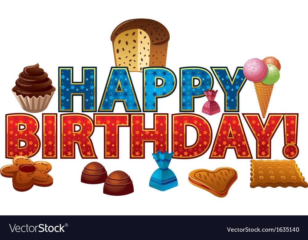 Happy birthday candy vector image