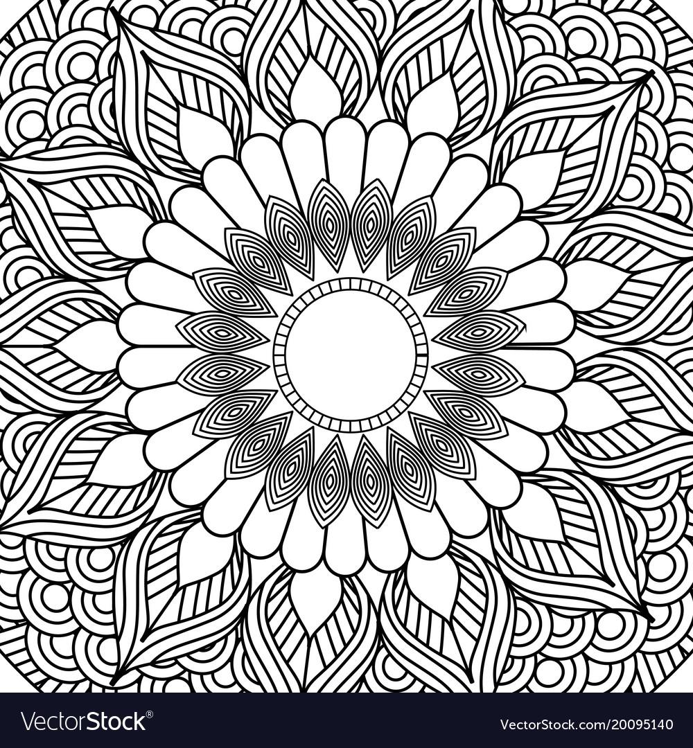 Mandala decorative ethnic element adult coloring