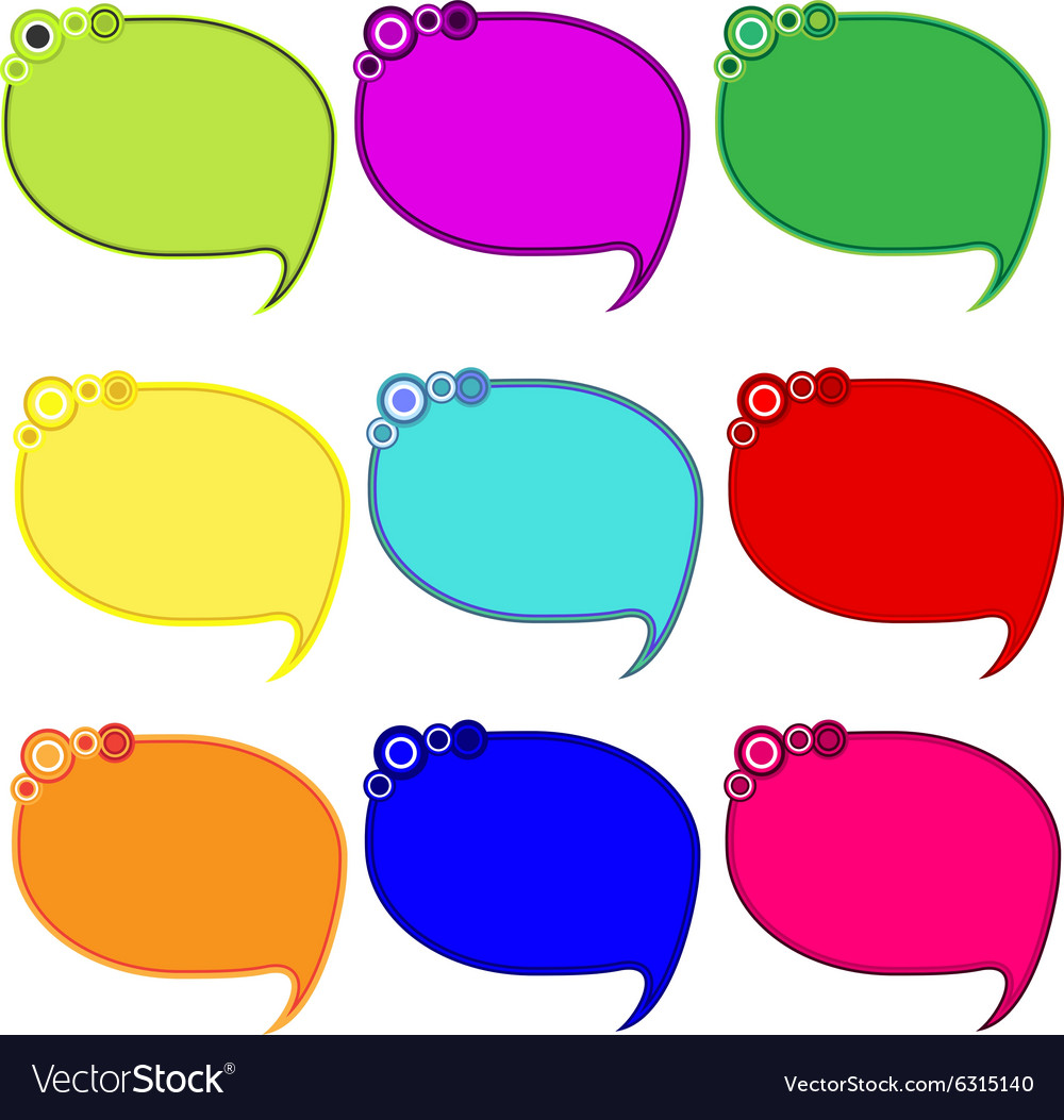 graphic relating to Printable Speech Bubbles called Printable bubble Blank vacant speech bubbles icons