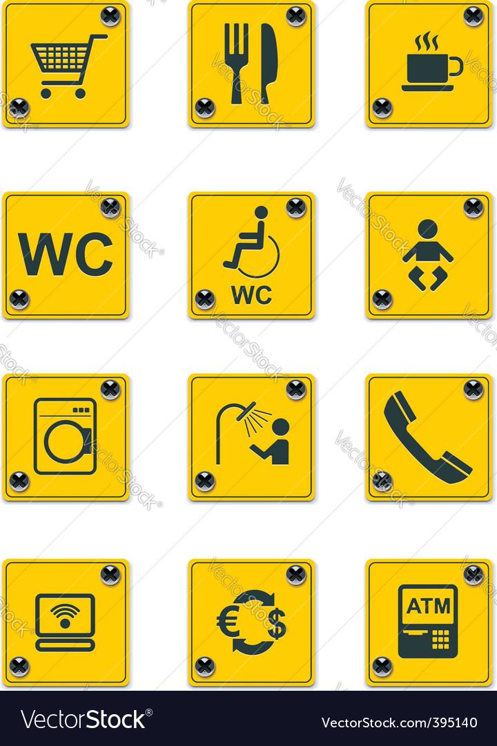 Roadside services signs pt 2 vector image