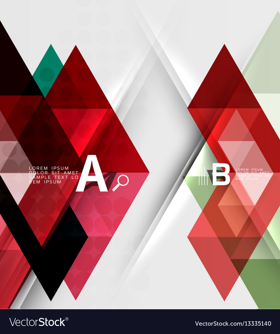 Transparent triangle tiles banner