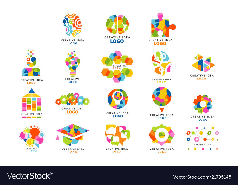 Creative idea logo abstract colorful elements and