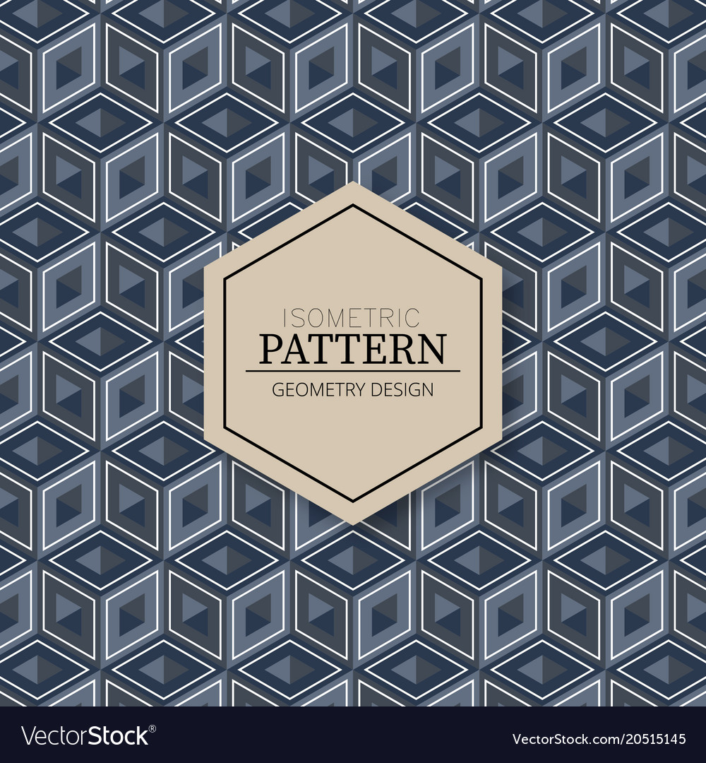 Isometric modern pattern texture background vector image