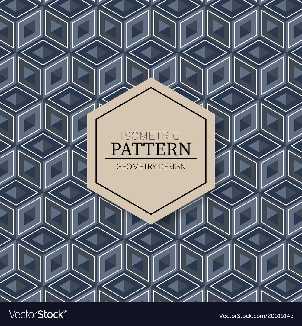 Isometric modern pattern texture background