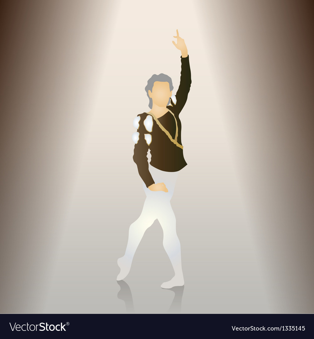 Male Ballet Poses Royalty Free Vector Image Vectorstock