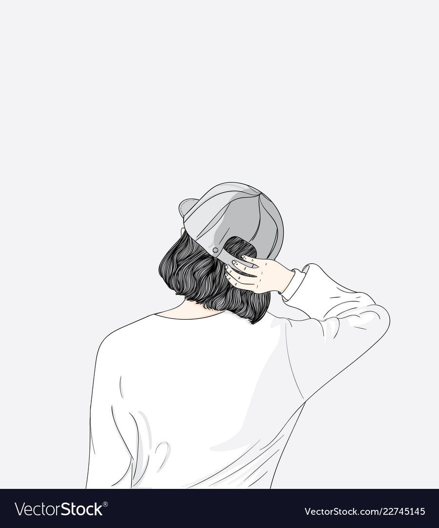 girl on her back