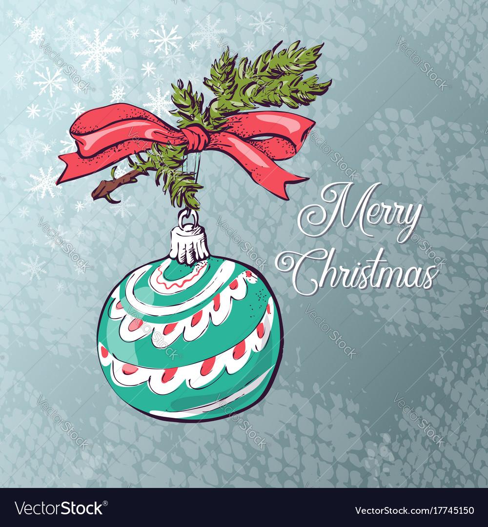 Christmas ball card