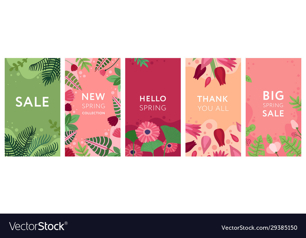 Floral stories flowers spring plants and foliage
