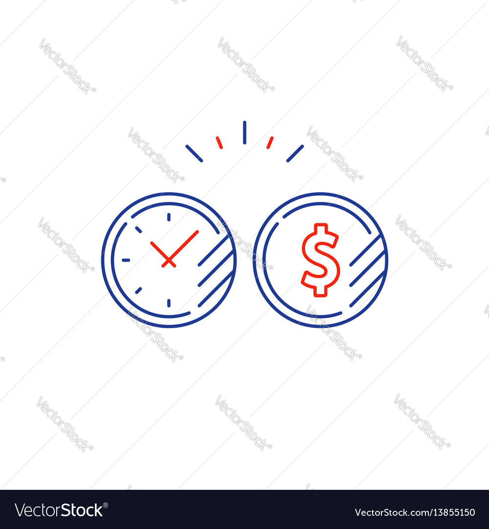 Long term investment plan time and money coin line