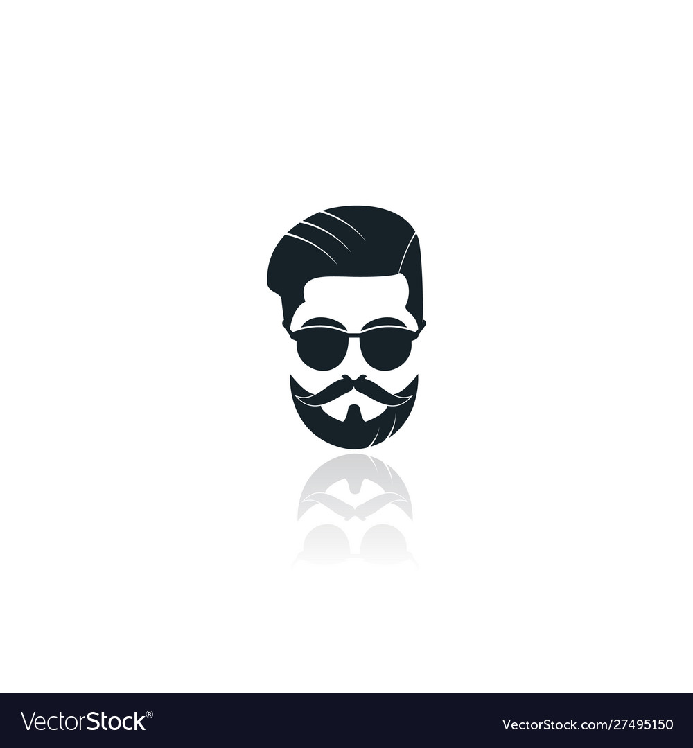 man with beard logo royalty free vector image vectorstock vectorstock