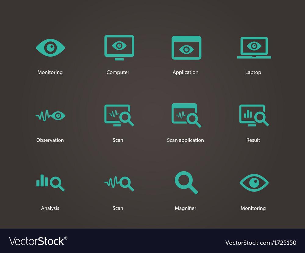Monitoring icons