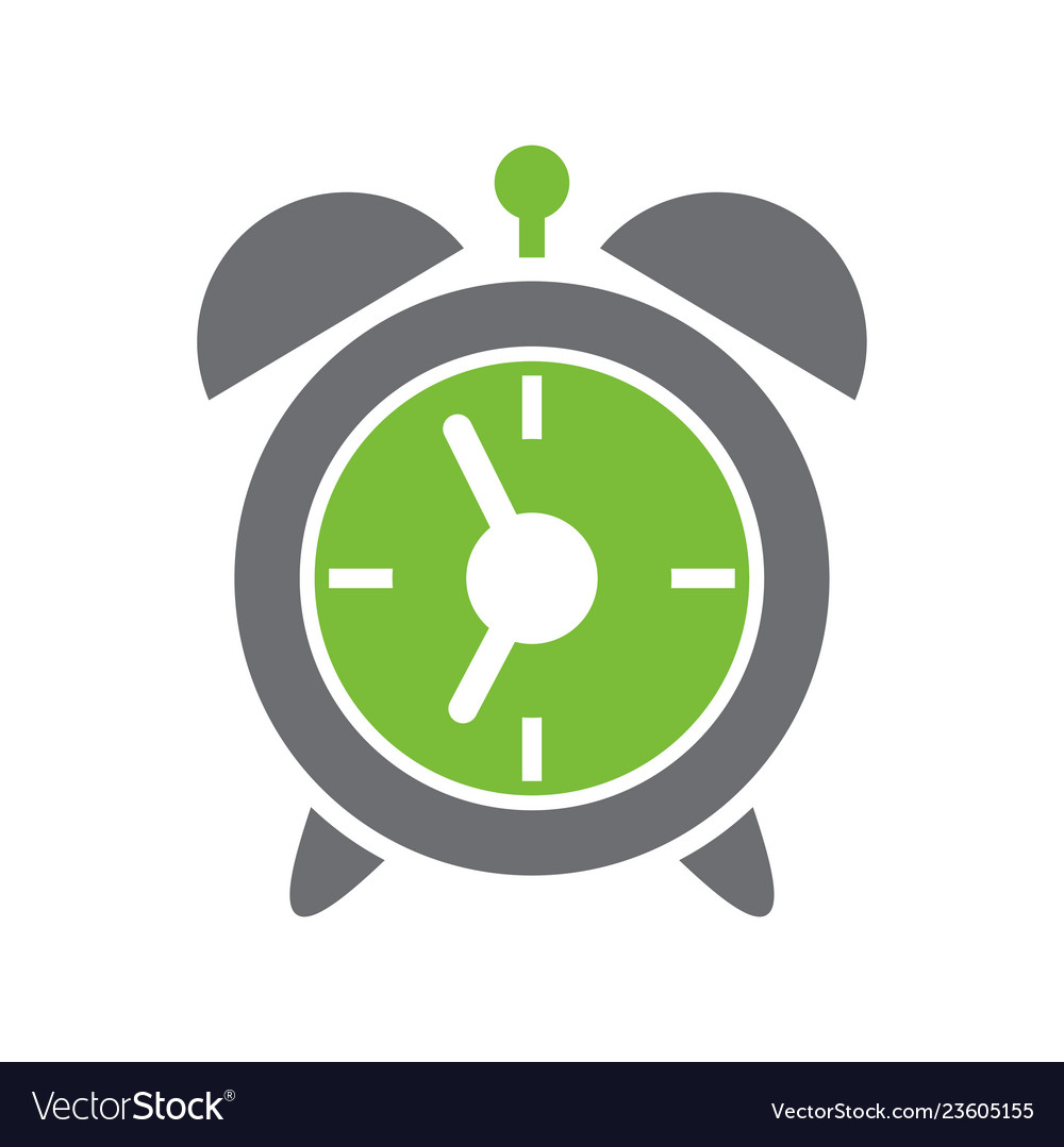 Alarm clock icon on white background for graphic